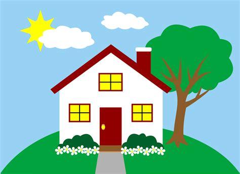 Quaint Little House On A Hill  Free Clip Art