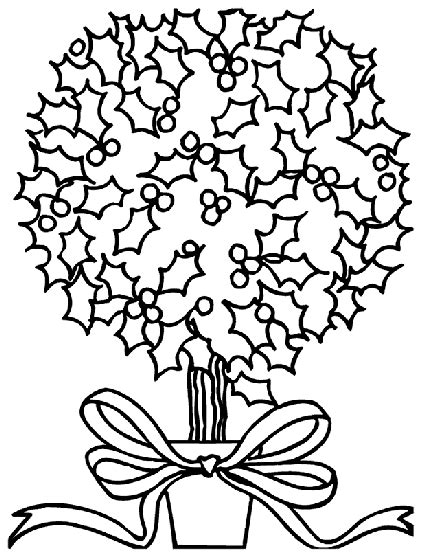 christmas holly bush coloring page crayolacom