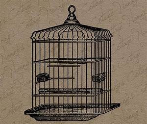 Items similar to Antique Bird Cage Clip Art Illustration ...