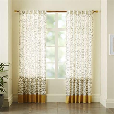 cotton canvas medina border curtain west elm if you do