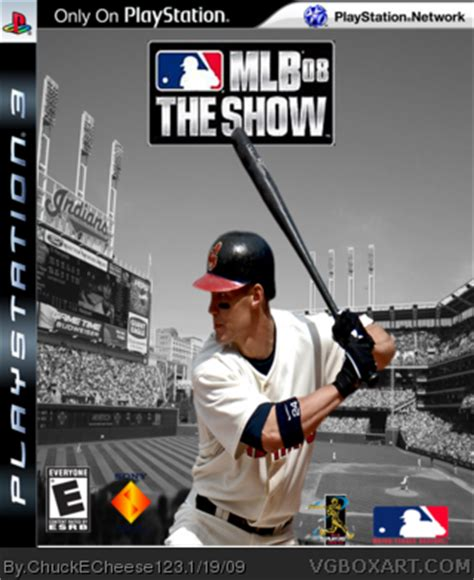 mlb 08 the show playstation 3 box cover by chuckecheese123