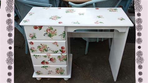 shabby chic furniture how to do it yourself diy vintage shabby chic romantic desk transform your old furniture youtube