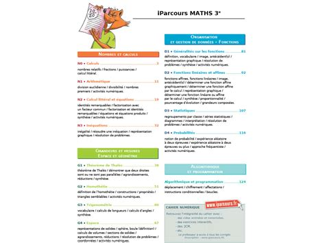 cahier dexercices iparcours maths  ed