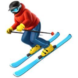 Skier Emoji (U+26F7)