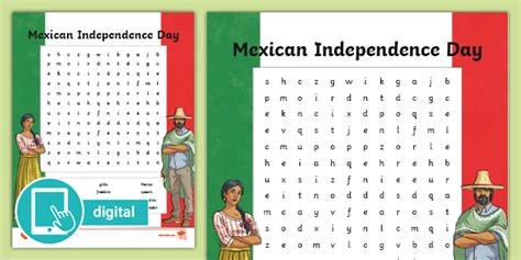 Mexican Independence Day Word Search (teacher made)