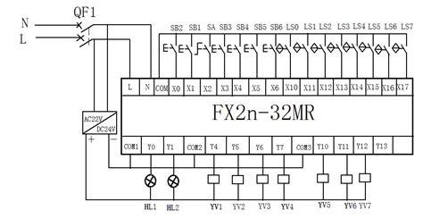 mitsubishi fx2n 32mr plc wiring diagram plc programming