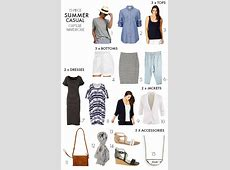 How to create a summer casual capsule wardrobe