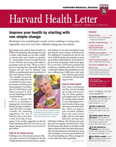 harvard health letter boost health with one simple change from the october 2015 22099 | L1510