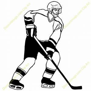 Free Hockey Player Clipart - Custom Clip Art - 14052