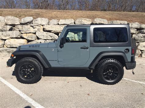crashed jeep wrangler 2015 jeep wrangler willys wheeler salvage for sale