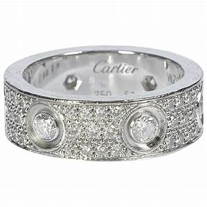 cartier diamond gold love wedding band ring at 1stdibs With cartier diamond wedding rings