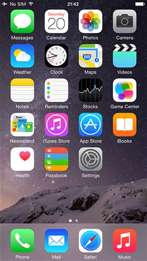 iphone 6 home screen iphone 6 tidbits 1 36 ghz a8 chip with 1gb ram confirmed