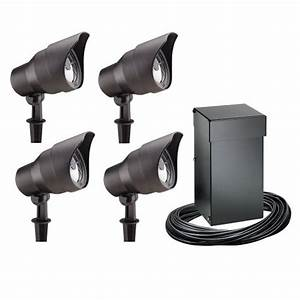 Intermatic cl t malibu outdoor four light lighting kit