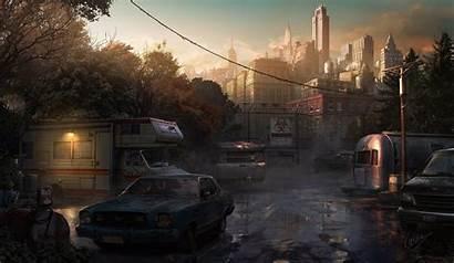 Trailer Park Apocalyptic Biohazard Rv Apocalypse Skyscrapers