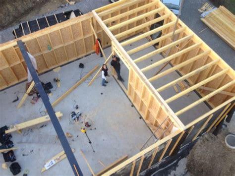 plancher bois de l 233 tage autoconstruction de notre maison ossature bois en haute savoie 74