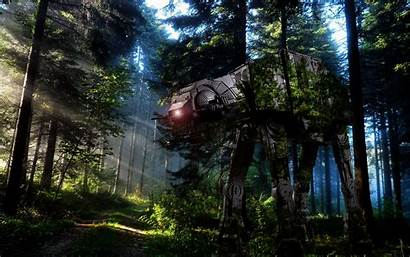 Wars Star Endor Forest Jungle Nature Environment