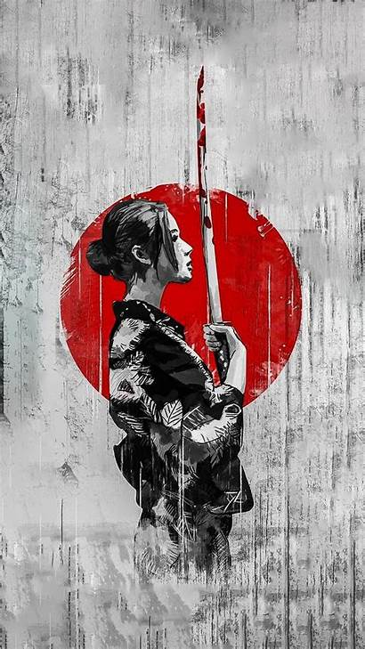 Samurai Iphone Abstract Geisha Wallpapers Wallpaperaccess Backgrounds