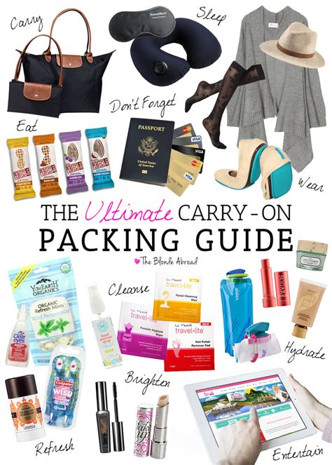 The Ultimate Carryon Packing Guide • The Blonde Abroad