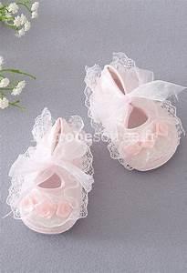 Photo De Bébé Fille : chausson pour petites filles c r monie mariage ~ Melissatoandfro.com Idées de Décoration