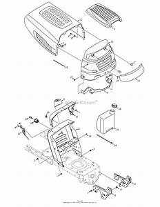 Mtd 13ax775h031  2008  Parts Diagram For Hood  U0026 Control