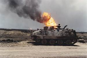 Tank And Oil Well Fire  Kuwait  Persian Gulf War Editorial