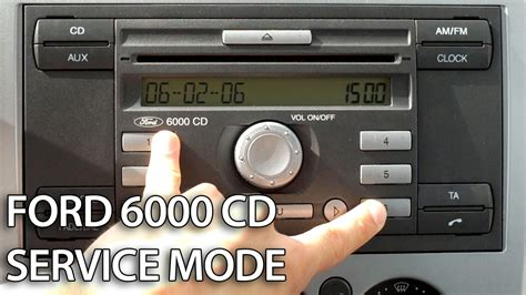 ford 6000 cd how to enter service mode in ford 6000 cd radio unit c
