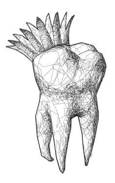 The Tooth - Artistic Tooth Print - 8x10 PRINT | Teeth art
