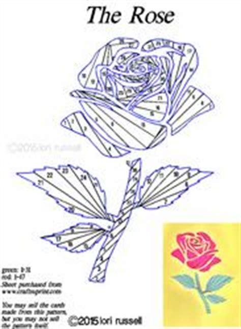 floral iris folding patterns card making