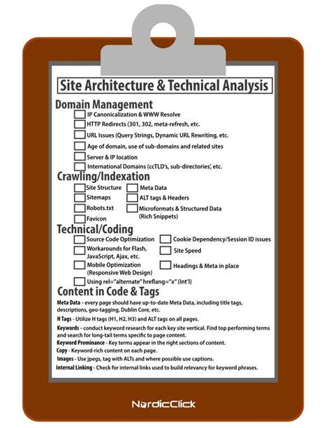 Seo Checklist  Site Architecture & Technical Analysis