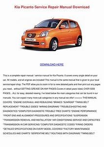 Kia Picanto Service Repair Wiring Diagram Download