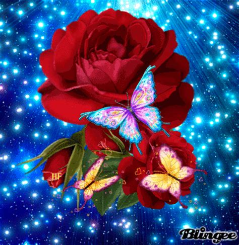Roses N Butterflies Picture #129842581 Blingeecom
