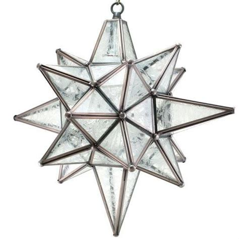 moravian star of bethleham glue chip glass and silver