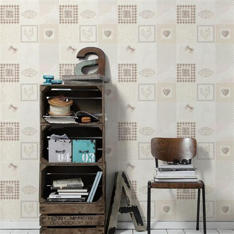 wallpaper designs for kitchens as creation patchwork pattern wallpaper kitchen tartan 6972