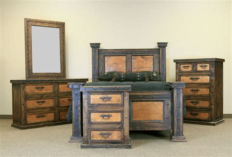lmt rustic cobmedio finca copper rustic bedroom set