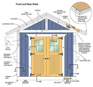 10 215 12 storage shed plans blueprints for constructing a