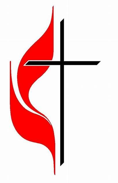 Methodist United Cross Church Flame Am Why