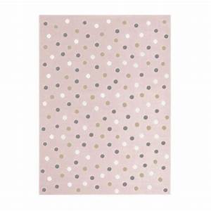Baby Teppich Rosa : teppich acryl rosa mit wei grau beigefarbenen punkten in 3 verschiedenen gr en rund ums kind ~ Buech-reservation.com Haus und Dekorationen