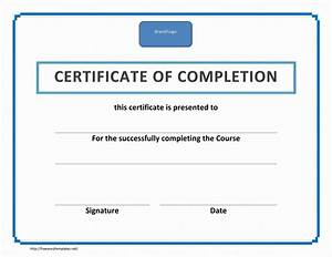 blank certificate of completion template helloalive With certification of completion template