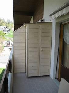 Meuble De Balcon : rangement pour balcon zoom meuble de rangement pour ~ Premium-room.com Idées de Décoration