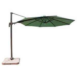 10 aluminum solar light offset patio umbrella w target