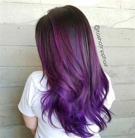 bold  trendy dark purple hair color ideas page