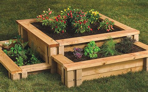 raised garden beds  home depot colors   home