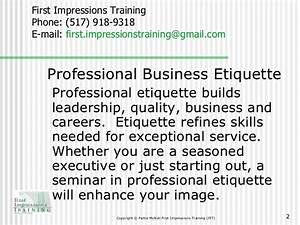 first impressions training fit professional business With courtesy skills training document