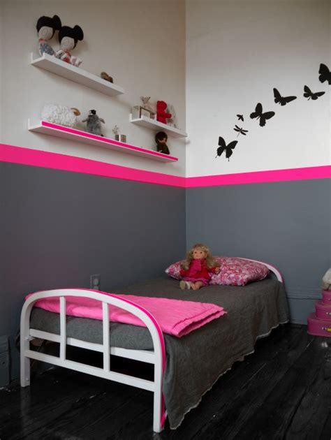 decoration chambre fille gris rose
