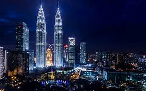 Petronas, Towers, Skyscrapers, Kuala, Lumpur, Malaysia ...