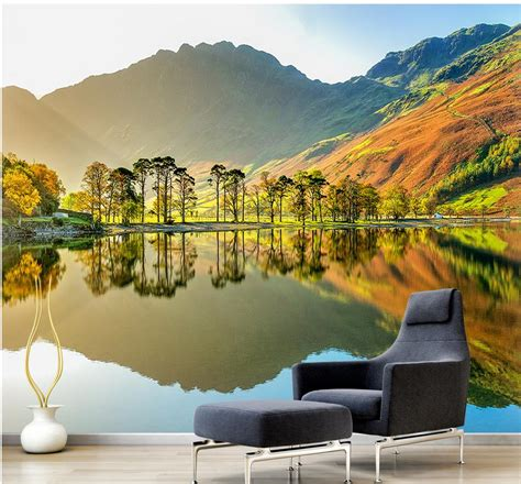 custom  wallpaper design  natural scenery mural