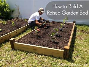 Hot to build a raised garden bed sew woodsy for How to make a garden bed