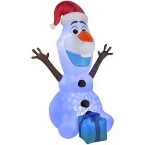shop gemmy 6 ft x 3 28 ft lighted olaf at lowes