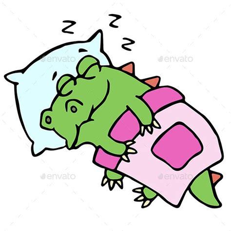 sleeping dinosaur  likozor graphicriver