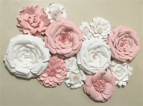 crafty ideas white flower wall decor 3d large paper decoration soft foam pillowfort decals 3 my